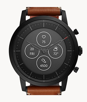 Hybrid Smartwatch HR Collider Tan Leather