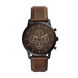 Hybrid Smartwatch HR Collider Dark Brown Leather