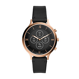 Hybrid Smartwatch HR Charter Black Leather