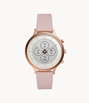 Damen Hybrid Smartwatch Charter HR Silikon Rosé