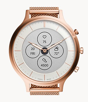 Hybrid Smartwatch HR Charter Rose Gold-Tone Stainless Steel Mesh