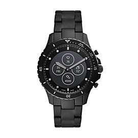 Hybrid Smartwatch HR FB-01 Black Stainless Steel
