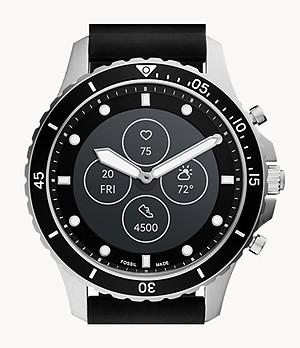 Hybrid Smartwatch HR FB-01 Black Silicone