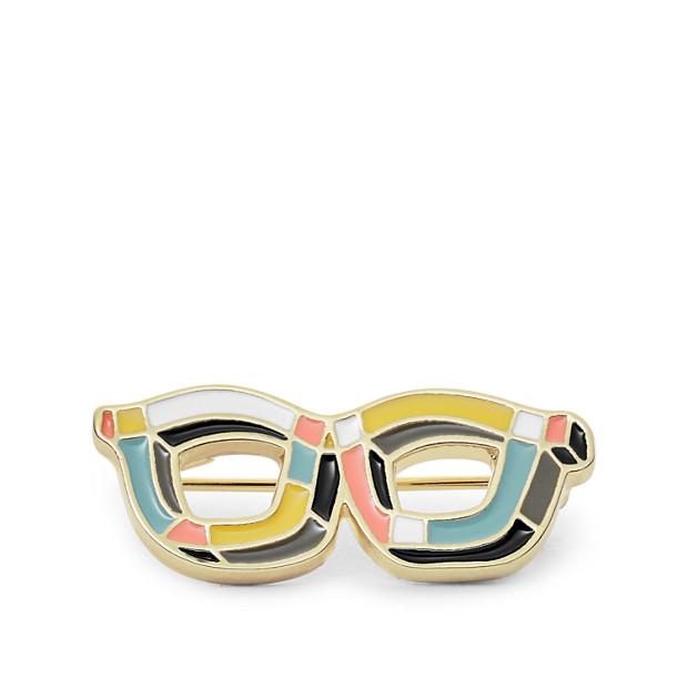 2b29b8a78932 Glasses Lapel Pin - Fossil
