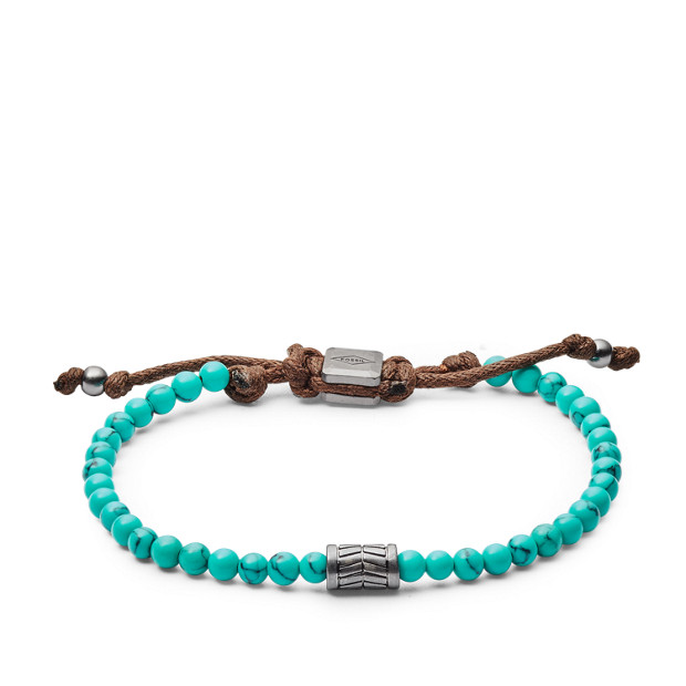 vintage casual turquoise beaded bracelet fossil. Black Bedroom Furniture Sets. Home Design Ideas
