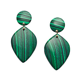 Teardrop Green Earrings