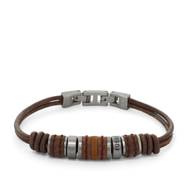 Rondell Leather Bracelet by Fossil