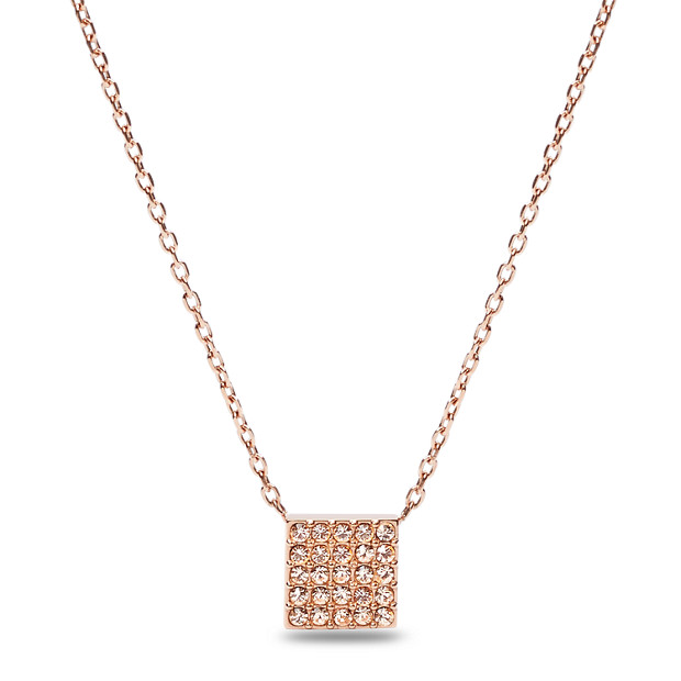 Glitz square pendant necklace fossil glitz square pendant necklace aloadofball Image collections
