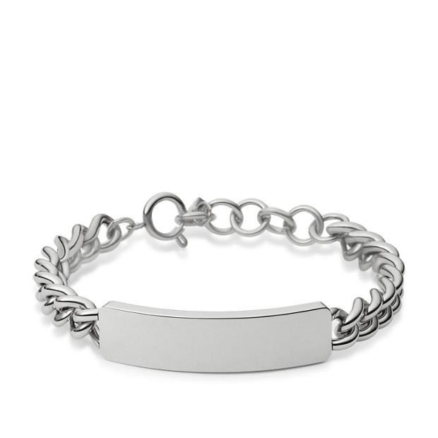 c401bae780adc High Tide Plaque Bracelet - Silver Tone - Fossil