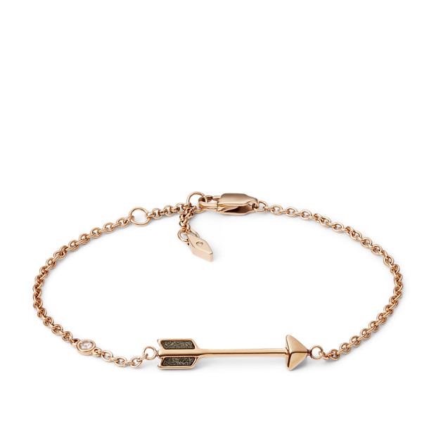 Arrow Rose Gold Tone Steel Bracelet Fossil