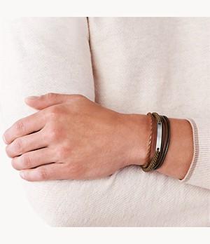 Vintage Casual Dark Brown Multi-Strand Bracelet