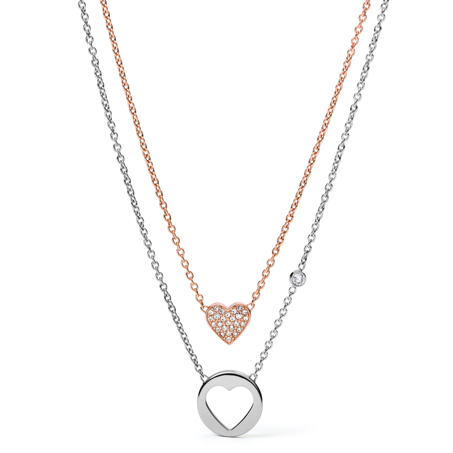 disc jewellery lauryn necklace geometric collection double silver rose