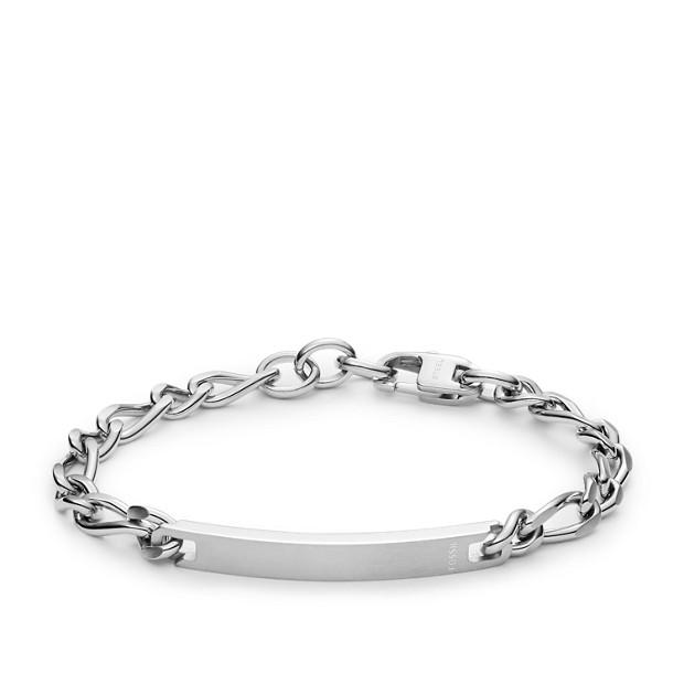 50945e2945a0f Engravable Plaque Steel Bracelet - Fossil