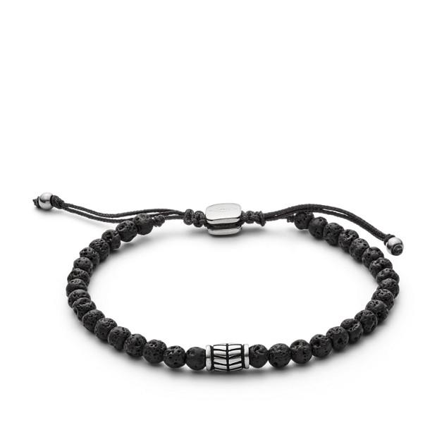 Black Semi Precious Bracelet by Fossil