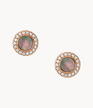 Damen Ohrringe Gray Mother-Of-Pearl Glitz Studs