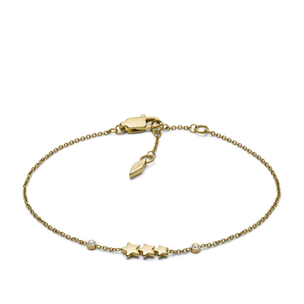 Shooting Star Gold-Tone Stainless Steel Bracelet - Fossil