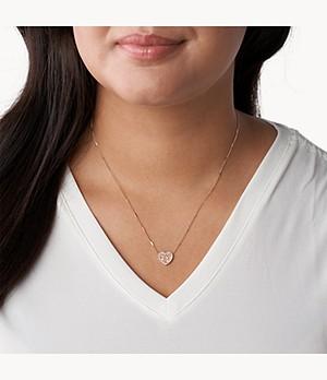 Damen Halskette Mosaic Heart
