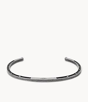 Antique-Inspired Stainless Steel Open Cuff