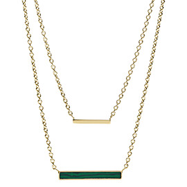 Duo Bar Gold-Tone Stainless Steel Multi-Strand Necklace