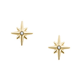 North Star Gold-Tone Stainless Steel Earrings