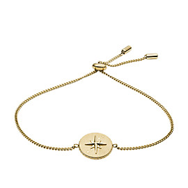 North Star Pendant Gold-Tone Stainless Steel Bracelet