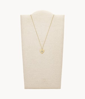 Evil Eye Pendant Gold-Tone Stainless Steel Necklace