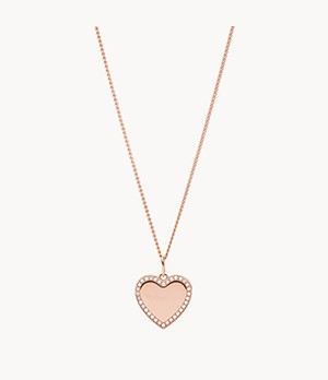 Be Mine Rose Gold-Tone Stainless Steel Pendant Necklace