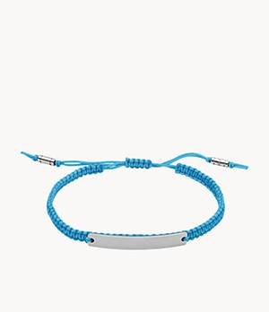 Neon Lights Blue Fabric ID Bracelet