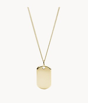 Damen Halskette Gold Stainless Steel with Pendant
