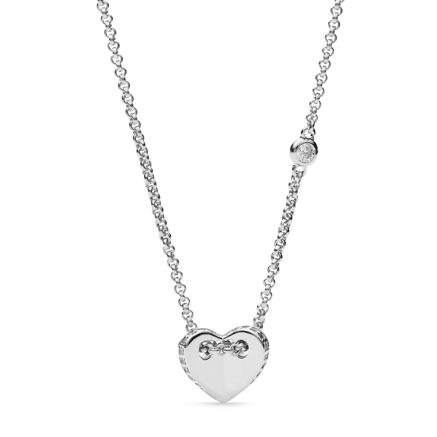 collection gold heart necklace silver misuzi products