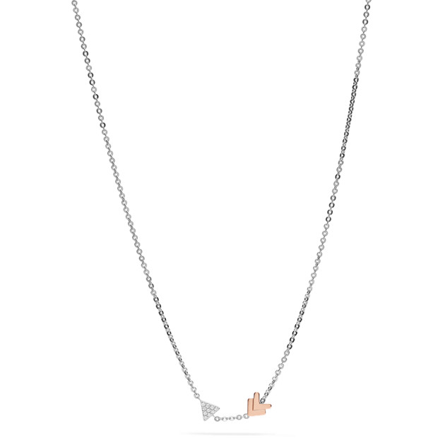 collier fossil argent