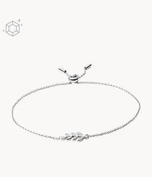Damen Armband - Sterling Silver Olive Branch