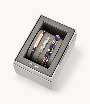 Navy Steel Bracelet Gift Set