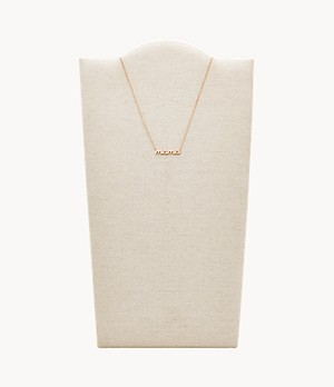 Rose Gold-Tone Stainless Steel Pendant Necklace