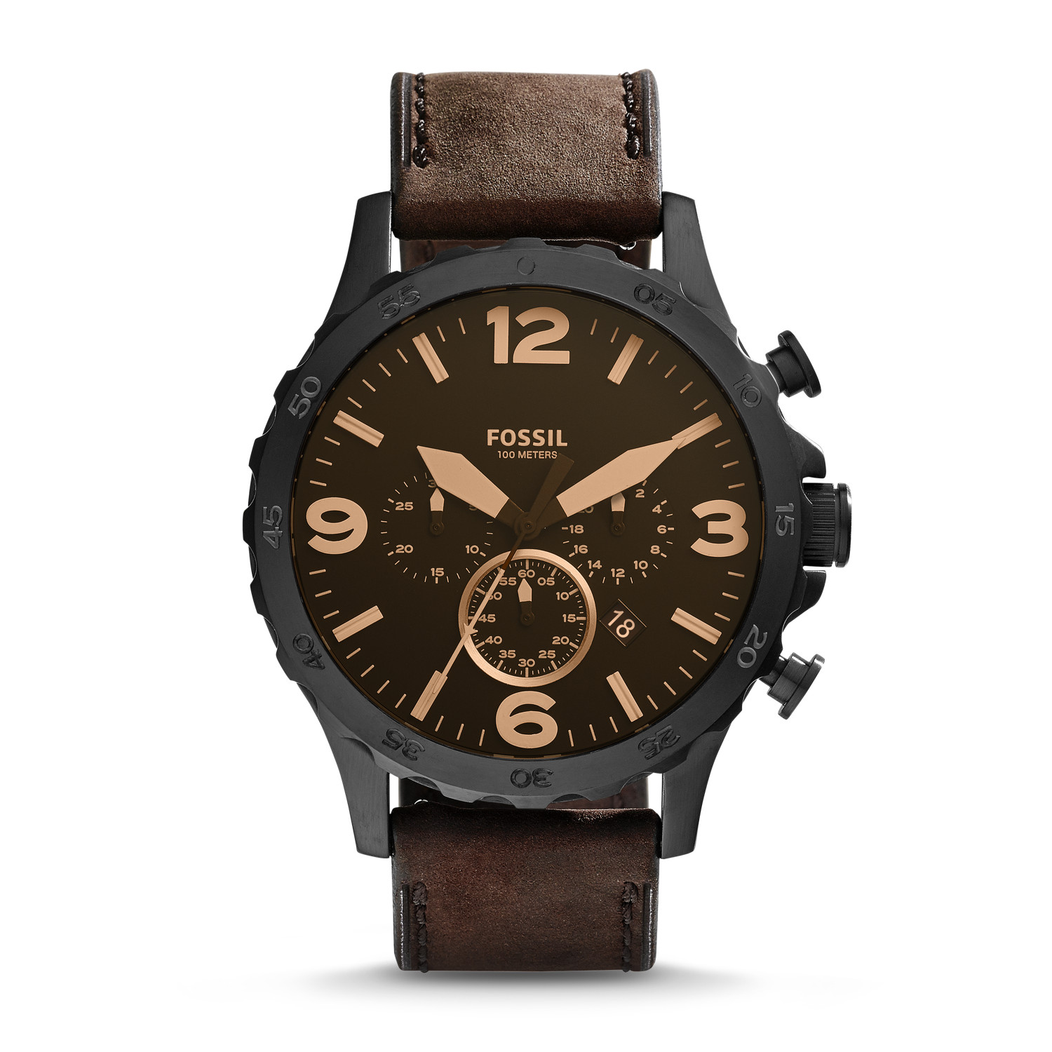 leather brown casio watch product watches buy strap