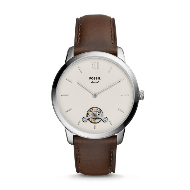 8c14f926e3ad Neutra Twist Brown Leather Watch - Fossil