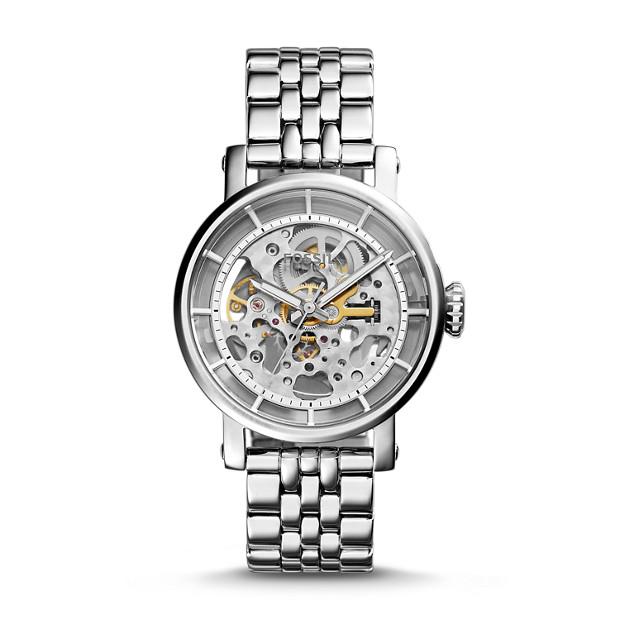 original boyfriend automatic stainless steel watch fossil. Black Bedroom Furniture Sets. Home Design Ideas