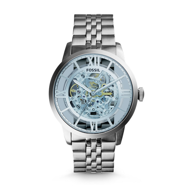 b9d4a6c9c Townsman Automatic Stainless Steel Watch - Fossil