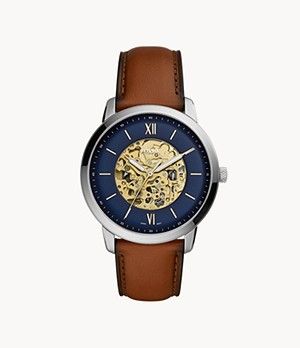 Neutra Automatic Luggage Leather Watch