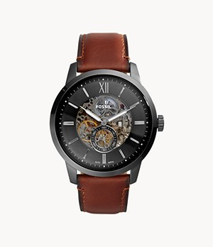 Townsman 48mm Automatic Amber Leather Watch