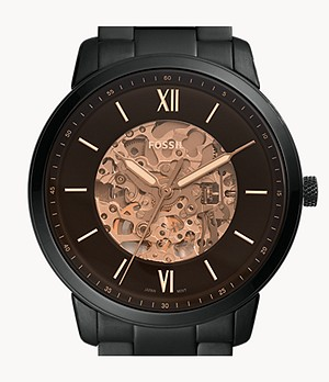 Neutra Automatic Black Stainless Steel Watch