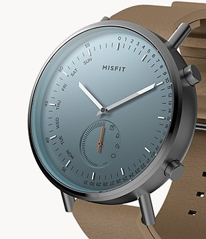 Misfit Command 44mm Gunmetal with Walnut Sport Strap