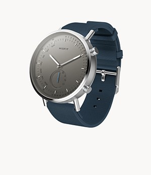Misfit Command 44mm Stainless Steel with Indigo Sport Strap