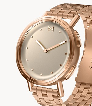 REFURBISHED Misfit Path 36mm Rose Tone with Rose Tone Stainless Steel Bracelet