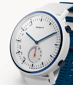 Misfit Command 45mm White with White and Navy Silicone Strap
