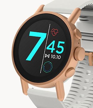 Misfit Vapor X 42mm Rose Gold-Tone with Gray Silicone Strap