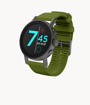 Misfit Vapor X 42mm Gunmetal with Green Silicone Strap