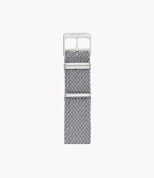 20mm Misfit Smartwatch Light Gray Nato Strap