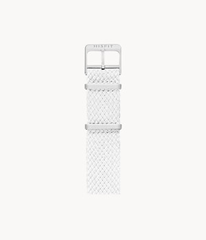 20mm Misfit Smartwatch White Nato Nylon Strap