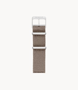 20mm Misfit Smartwatch Taupe Nato Nylon Strap